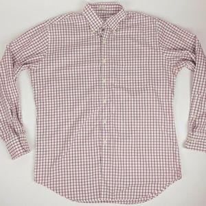 Peter Millar Plaid 100% Long Sleeve Button Shirt